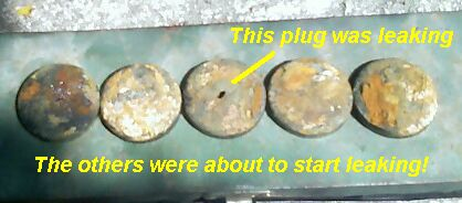 ze plug expansion plug replacement leak cooling system bad ze plugs inside view