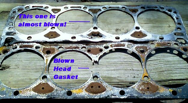 What are the signs of a blown head gasket?