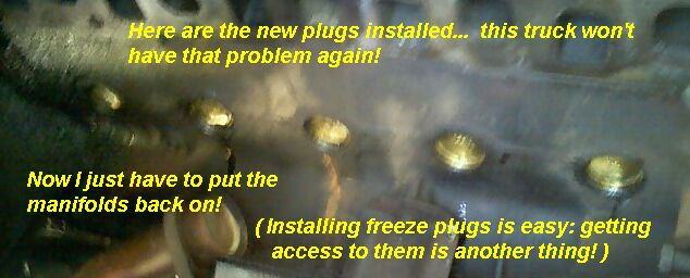 ze plug expansion plug replacement leak cooling system new ze plugs installed